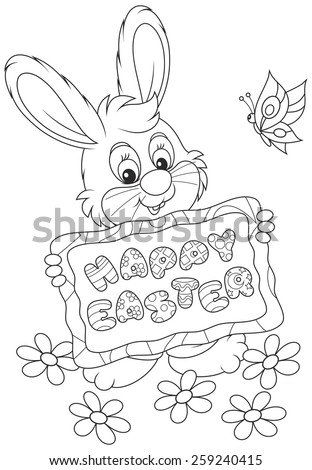 Easter Bunny - stock vector