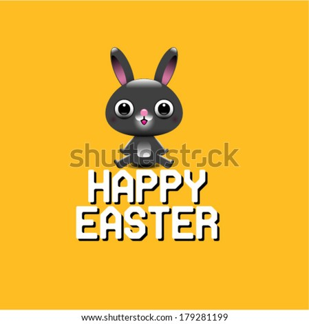 Easter Bunny card in vector format - stock vector