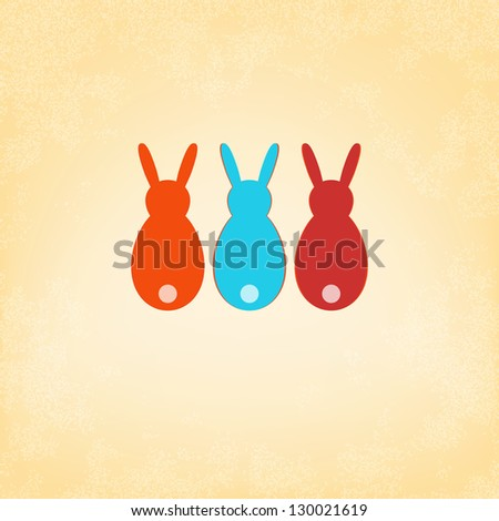 Easter Bunny card template design.  + EPS8 vector file - stock vector