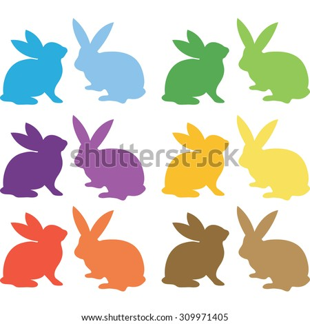 Easter Bunny Silhouette Collections