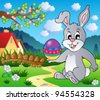 Easter bunny theme image 4 - vector illustration. - stock vector