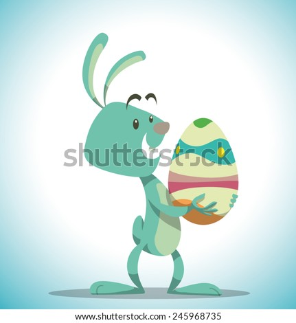 Easter Bunny, vector - stock vector