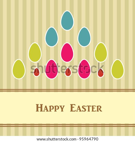 Easter card with colorful eggs.Vector eps10 - stock vector