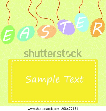Easter card with copy space - stock vector