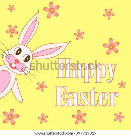 Easter card with rabbits in the EPS 10 vector