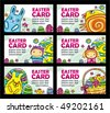 Easter cards vector set - stock vector