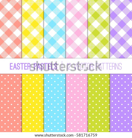 Light background gingham green vector stock images - What are the easter colors ...