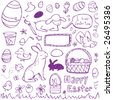 Easter Doodles - stock photo