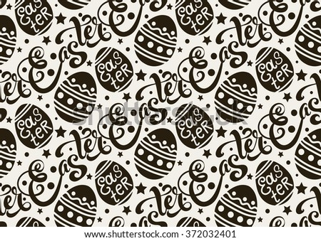 Easter. Easter Picture. Easter Image. Easter Graphic. Easter Egg. Easter Sunday. Easter Day. Easter Background. Easter Card. Easter Holiday. Easter Vector. Happy Easter. Black and White    - stock vector