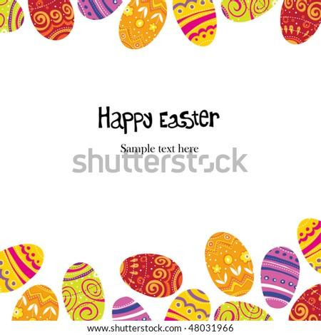 Easter egg. Frame background template. - stock vector