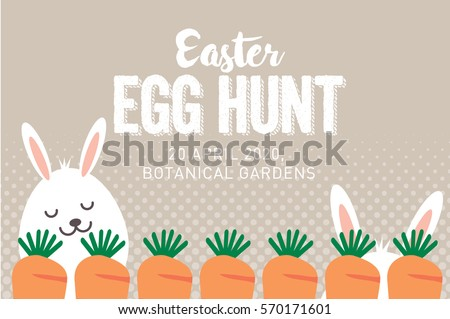 Easter Egg Hunt Poster Invitation Template Stock Photo Photo