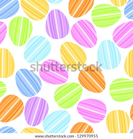 easter egg in bright strip