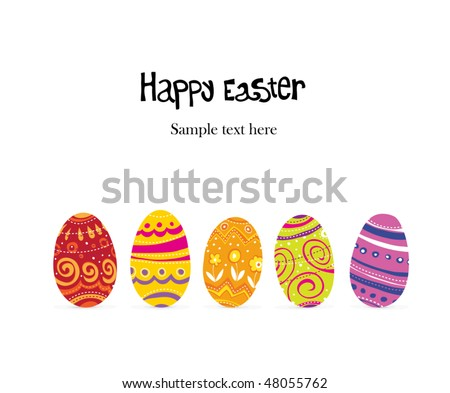 Easter egg. Row shaped background. - stock vector