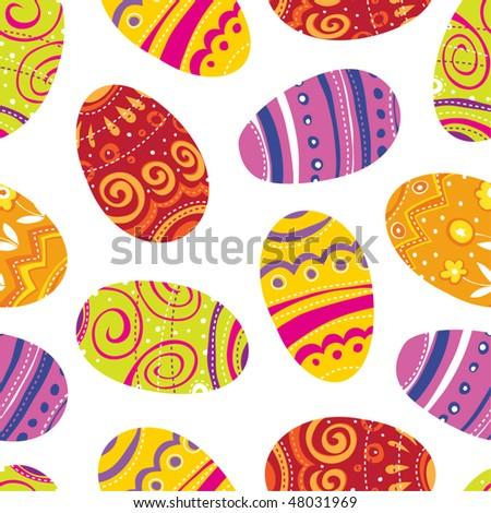 Easter egg. Seamless background. - stock vector