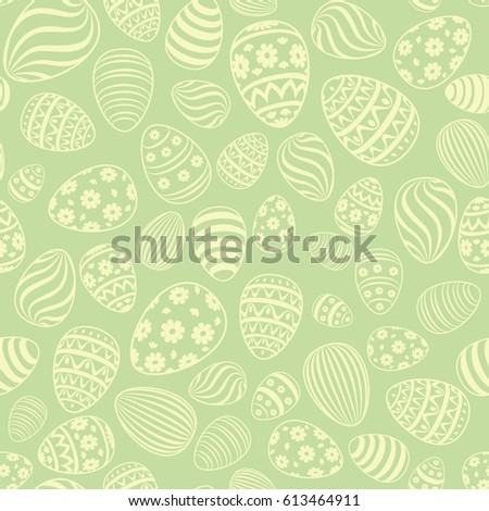 Easter egg seamless pattern spring holiday stock vector 613514636 easter egg seamless pattern spring holiday background for printing on fabric paper for scrapbooking negle Choice Image
