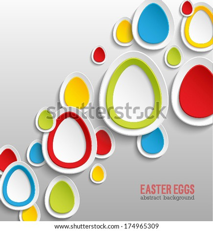 Easter eggs abstract colorful background. Vector illustration. - stock vector