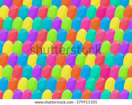 Easter eggs background. Colorful cartoon style vector eggs. Easter vector illustration can be used for spring holiday printed products, web design.