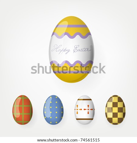 Easter eggs collection. Vector, Eps 10. - stock vector