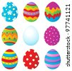 Easter eggs collection 1 - vector illustration. - stock vector