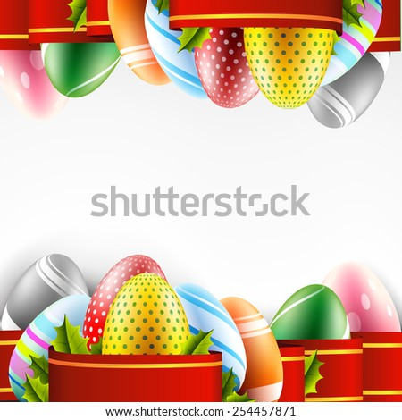 easter eggs framing - stock vector