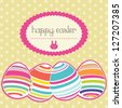 Easter eggs painted in colors. Vector Illustration - stock vector