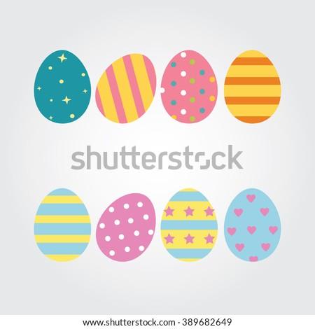 Easter eggs. Vector illustration. Easter eggs vector icons flat style. Easter eggs isolated vector. Easter eggs for Easter holidays design. Easter eggs isolated on white background. - stock vector
