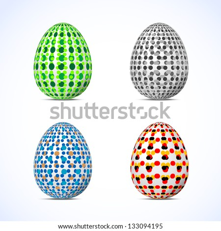 Easter eggs. Vector image of colorful easter eggs