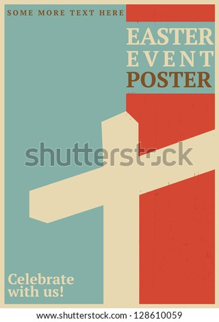 Easter Event Poster - stock vector