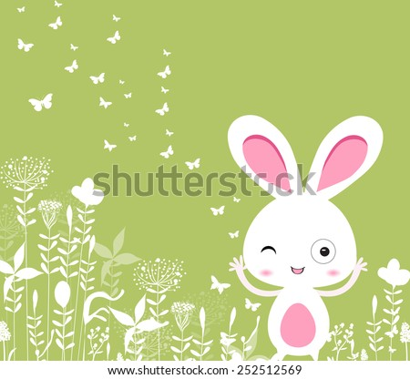 easter floral with bunny