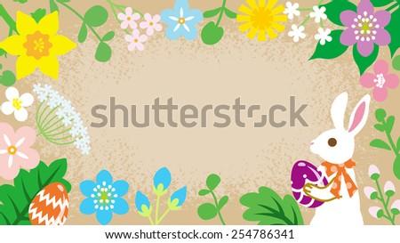 Easter Frame - stock vector