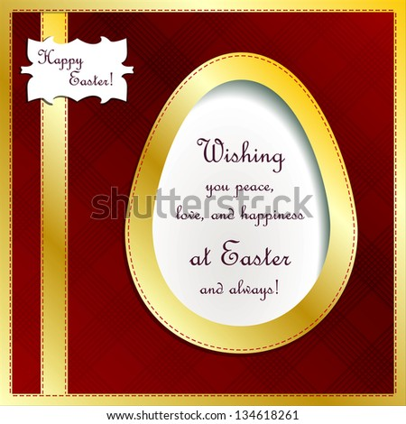 Easter greeting elite vector card. - stock vector