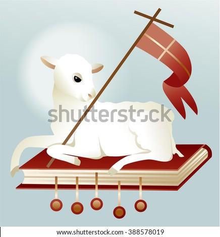 Easter lamb of God - stock vector