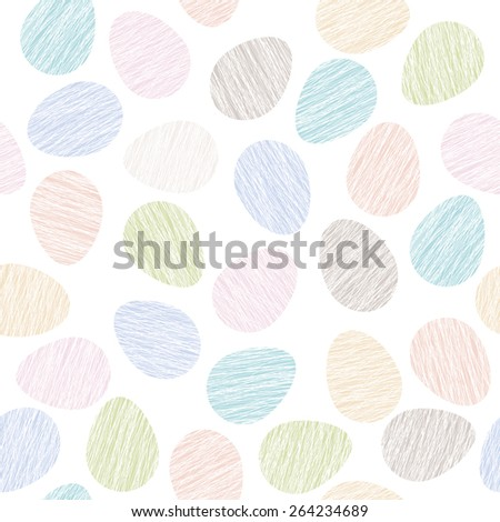 Easter pattern decoration. Easter eggs with Scratched texture. Seamless vector pattern. Stylized background with colorful eggs. Seamless holiday backdrop. - stock vector