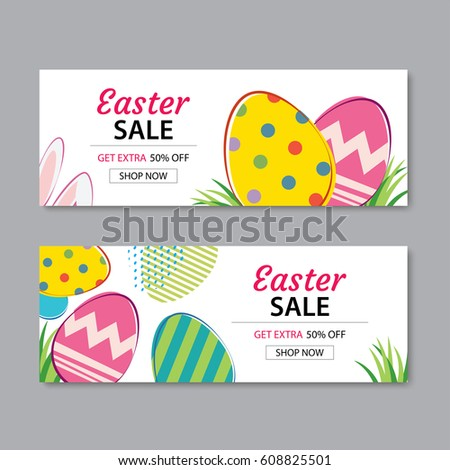 Happy Easter Egg Background Template Be Stock Vector