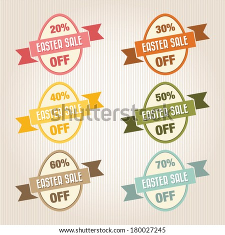 Easter Sale Text, Vintage Style - stock vector