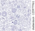 Easter - seamless pattern - stock vector