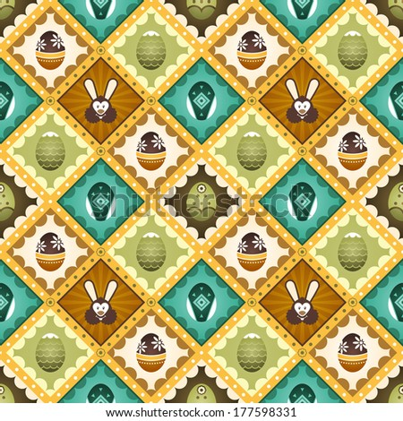 Easter seamless pattern. Suitable for posters and prints, wallpaper, textiles, scrap-booking, gift wrap and packaging. - stock vector