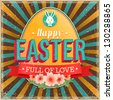 Easter vintage card. Vector illustration. - stock photo