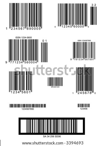 Easy Barcode Collection - layout presentation utility - Vector - stock vector