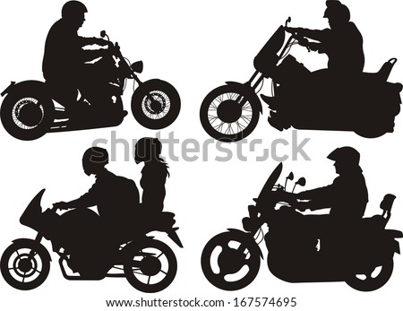 easy rider - motorcycle on the roda - stock vector