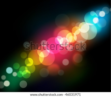 Easy to edit vector background 1: rainbow circle