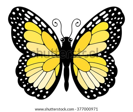 Easy to edit vector butterfly.