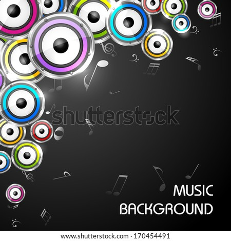 easy to edit vector illustration of abstract music background with saxophone