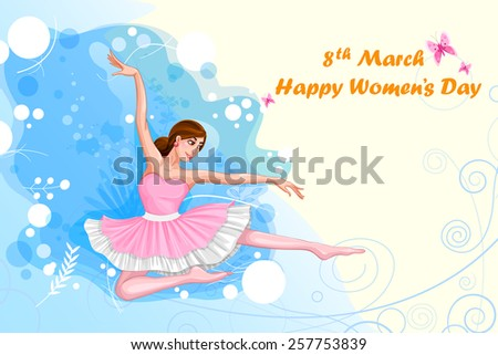 easy to edit vector illustration of beautiful woman - stock vector