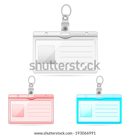 easy to edit vector illustration of blank identity card