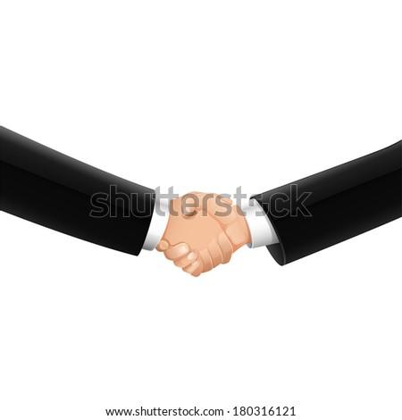 easy to edit vector illustration of business handshake - stock vector