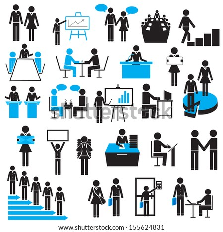 easy to edit vector illustration of businessman icon - stock vector