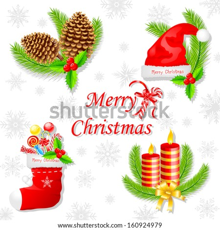 easy to edit vector illustration of Christmas background decoration - stock vector