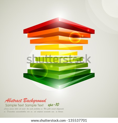 easy to edit vector illustration of colorful block for business presentation - stock vector