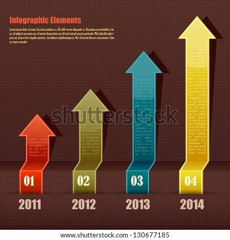 easy to edit vector illustration of colorful infographic arrow